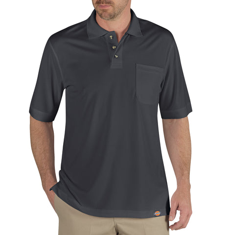 Dickies Mens Charcoal S/S Industrial Performance Polo