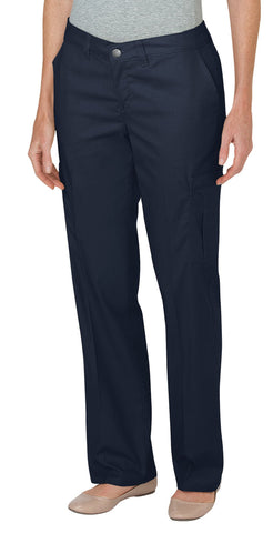 Dickies Womens Dark Navy Womens Premium Relaxed Straight Cargo Pants