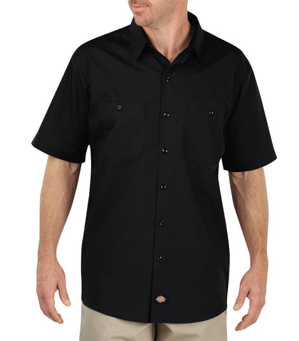 Dickies Mens Black S/S Industrial Worktech S/S Performance Shirt