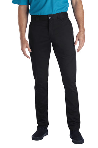 Dickies Mens Black Flex Skinny Straight Fit Work Pant