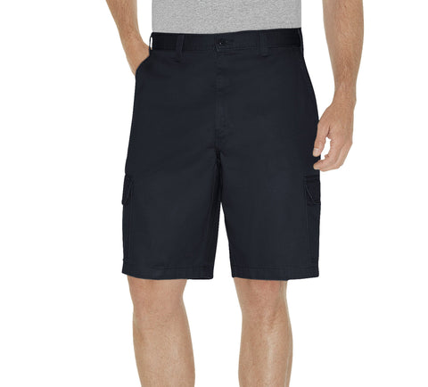 Dickies Mens Rinsed Dark Navy 10In Loose Fit Cargo Shorts