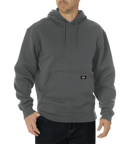 Dickies Mens Dark Heather Grey Midweight Fleece Pullover Hoodie