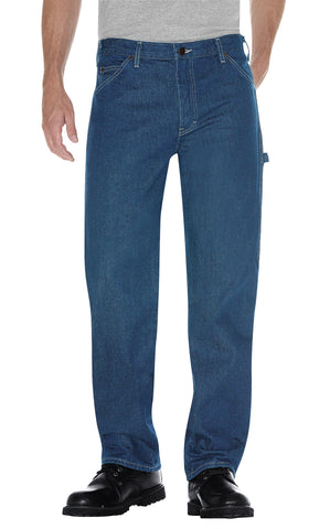Dickies Mens Indigo Blue Relaxed Fit Carpenter Denim Jean