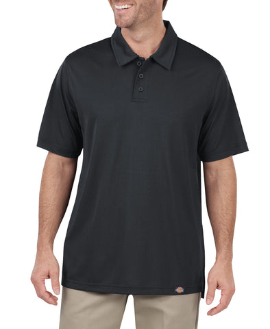Dickies Mens Dow Charcoal S/S Industrial Work Tech Performance Polo