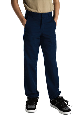 Dickies Boys Dark Navy Boys Classic Fit Straight Leg Flat Front Pants