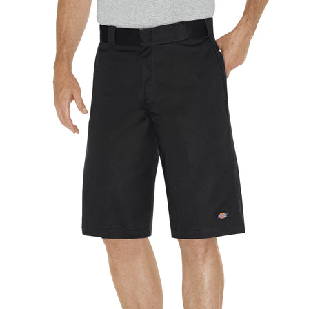 Dickies Mens Black 13In Relaxed Fit Multi-Pocket Work Short