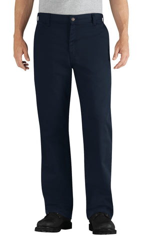 Dickies Mens Navy Flame-Resistant Relaxed Fit Twill Pant