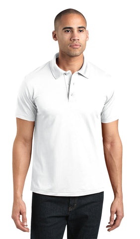 Dickies Mens White S/S Adult Performance Short Sleeve Polo