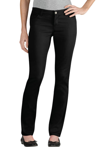 Dickies Girls Black Skinny Fit Straight Leg 5-Pocket Pants