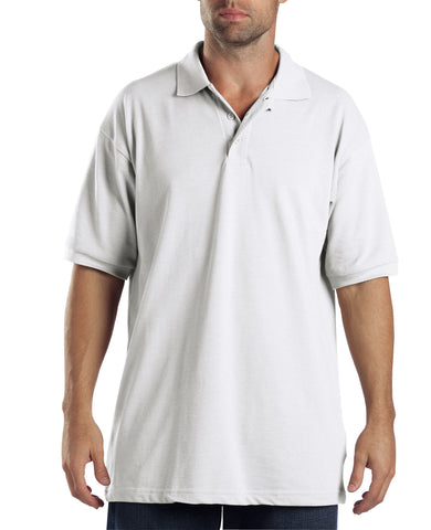 Dickies Boys White S/S Boys And Adult Short Sleeve Pique Polo
