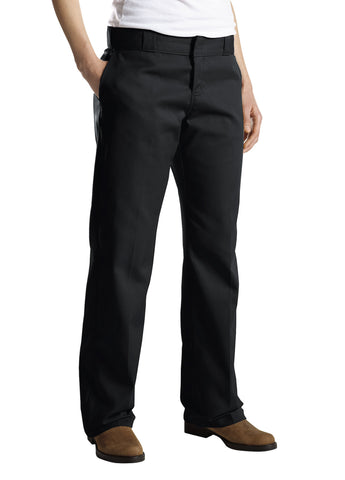 Dickies Womens Black Womens Original 774 Work Pant