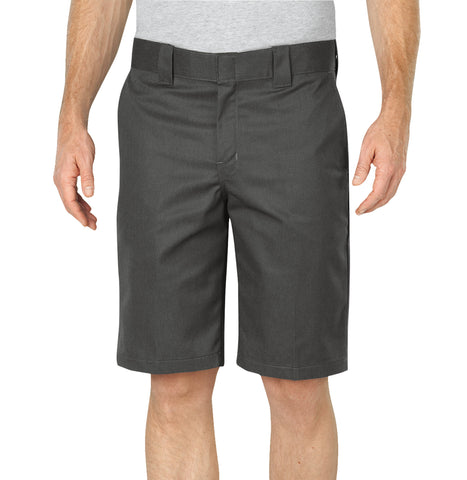 Dickies Mens Gravel Gray Flex 11In Relaxed Fit Work Short