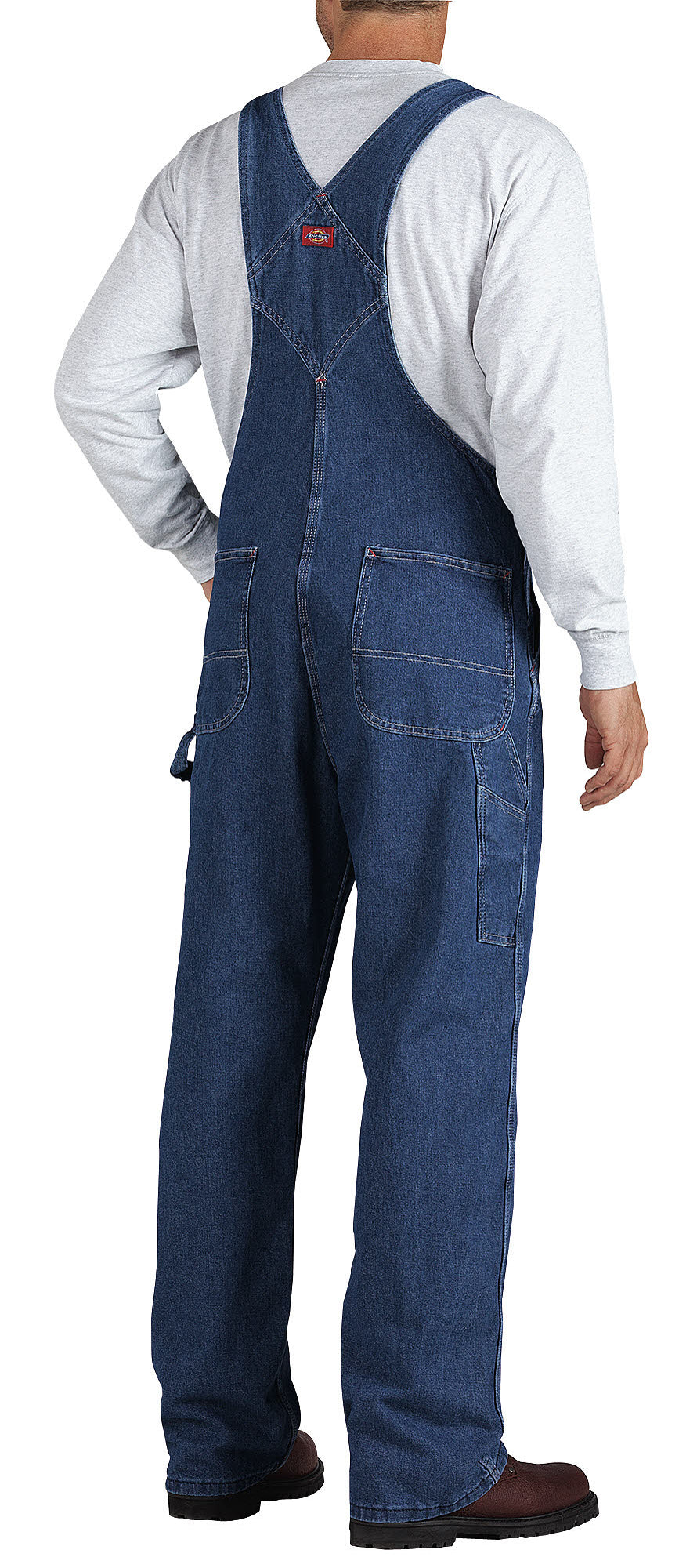 c3049cad342 Dickies Mens Indigo Blue Stonewashed Indigo Bib Overall – The ...