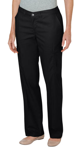 Dickies Womens Black Womens Premium Relaxed Straight Cargo Pants
