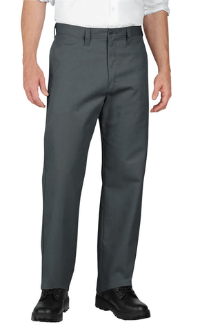 Dickies Mens Charcoal Industrial Flat Front Pants