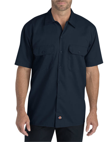 Dickies Mens Dark Navy S/S Flex S/S Twill Work Shirt