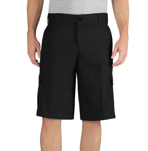 Dickies Mens Black Flex 13In Relaxed Fit Cargo Short