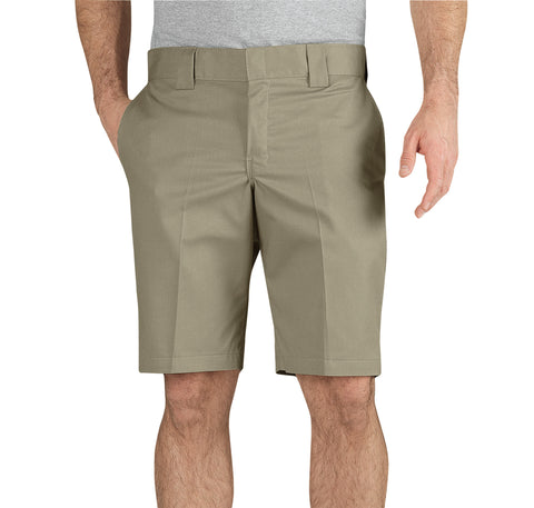 Dickies Mens Desert Sand Flex 11In Slim Fit Work Shorts