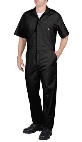 Dickies Mens Black Short Sleeve Coverall