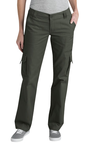 Dickies Womens Rinsed Grape Leaf Womens Relaxed Cargo Pant