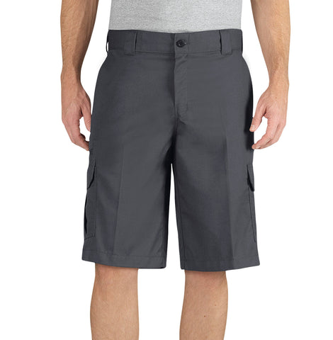 Dickies Mens Charcoal Flex 13In Relaxed Fit Cargo Short