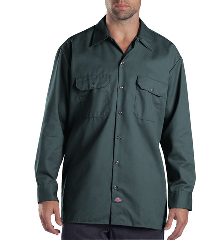 Dickies Mens Lincoln Green L/S Long Sleeve Work Shirt