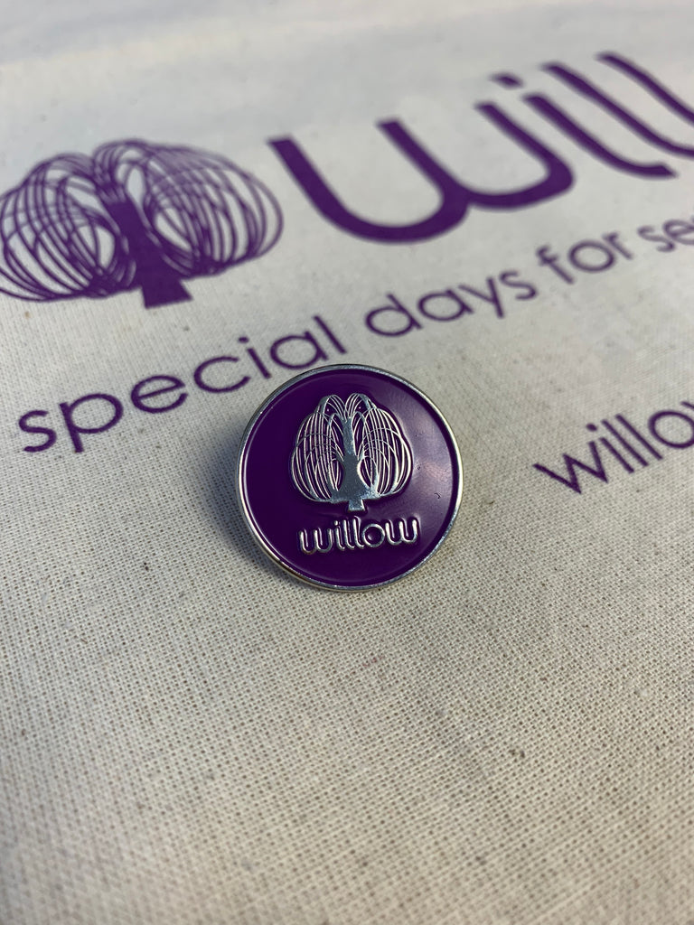 Willow pin badge