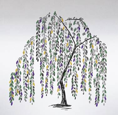Memory tree - purple leaf