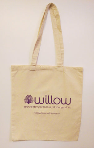 Willow cotton canvas tote bag