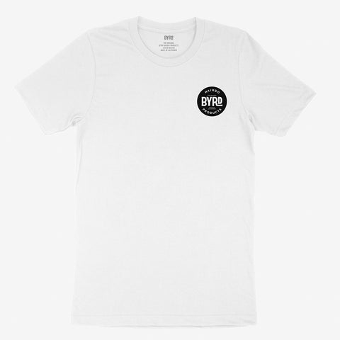 BYRD Classic White Short Sleeve T-Shirt