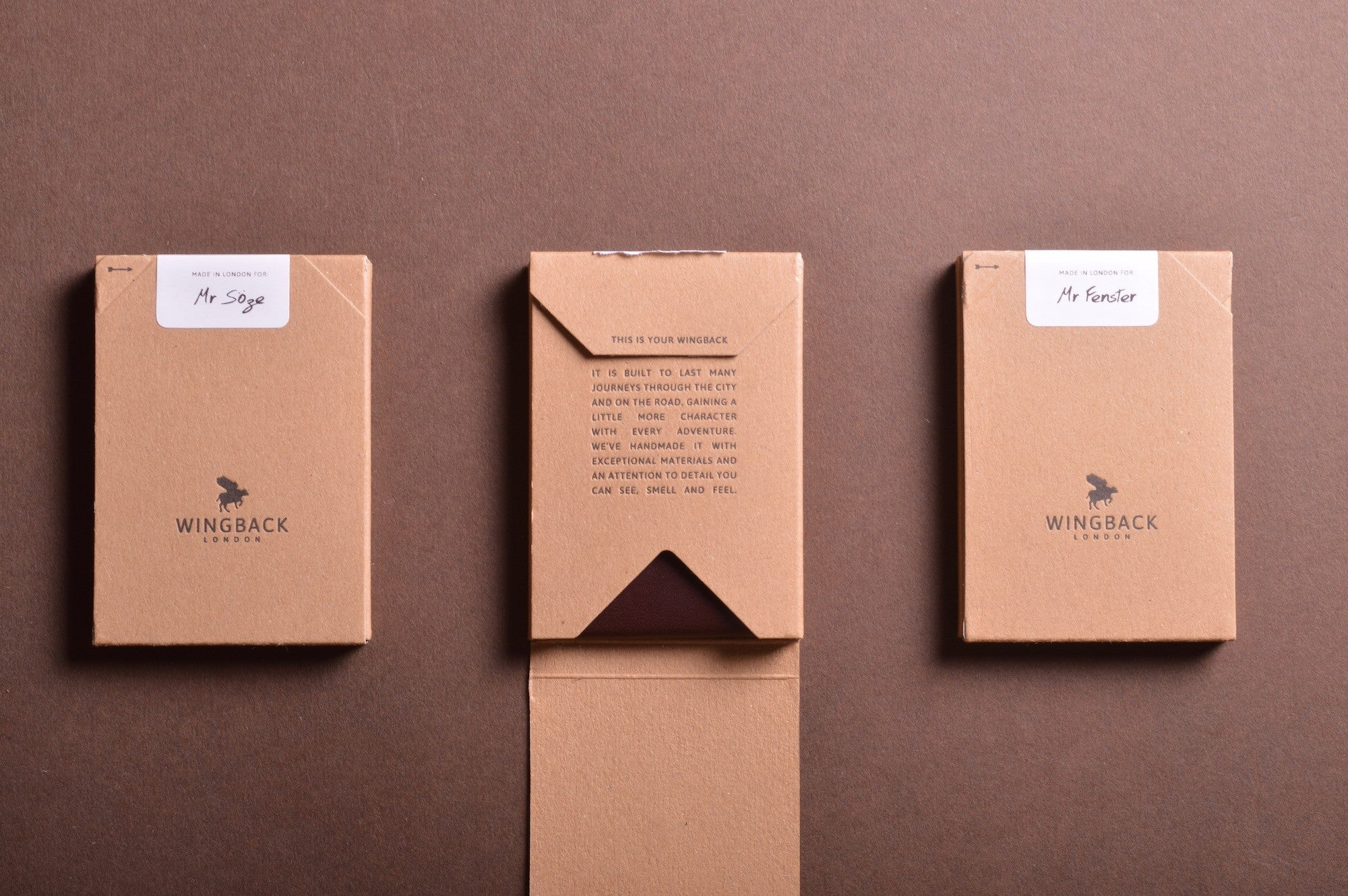 NEW PACKAGING: Recycled and recyclable - WINGBACK