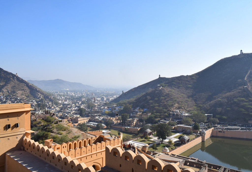 Jaipur India view from Amber Fort