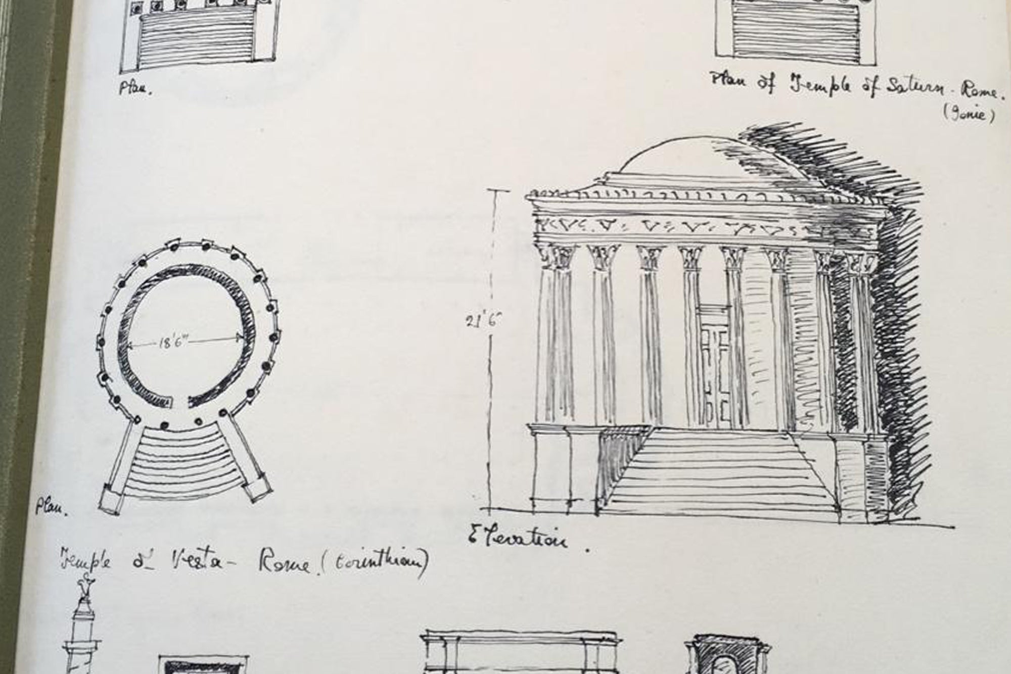 A snapshot of Mary's early sketches that inspired Wingback founder Alasdair