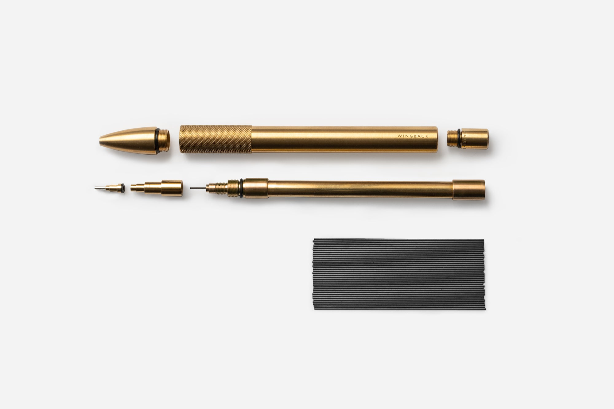 Personalised brass Mechanical Pencil by Wingback