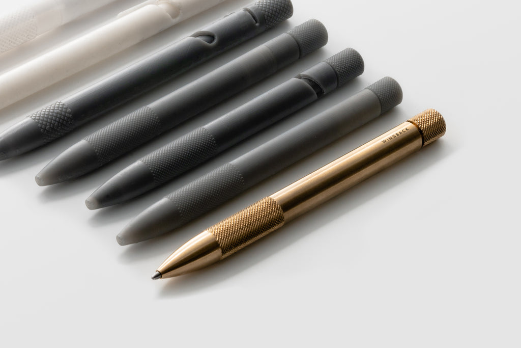 Wingback Mechanical Pen in brass