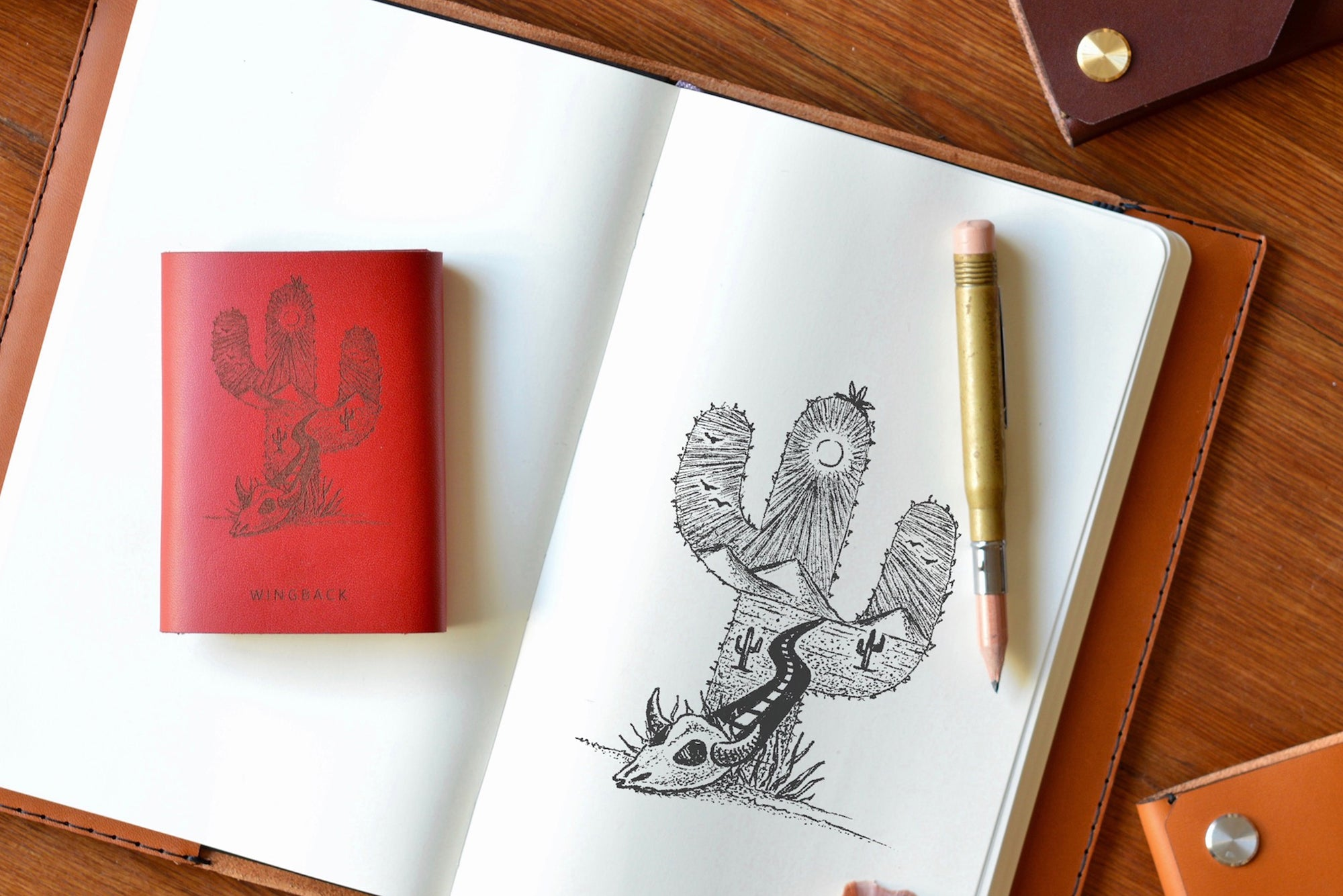 Kim Becker's Saguaro Cactus design for our limited edition collaboration - Wingback
