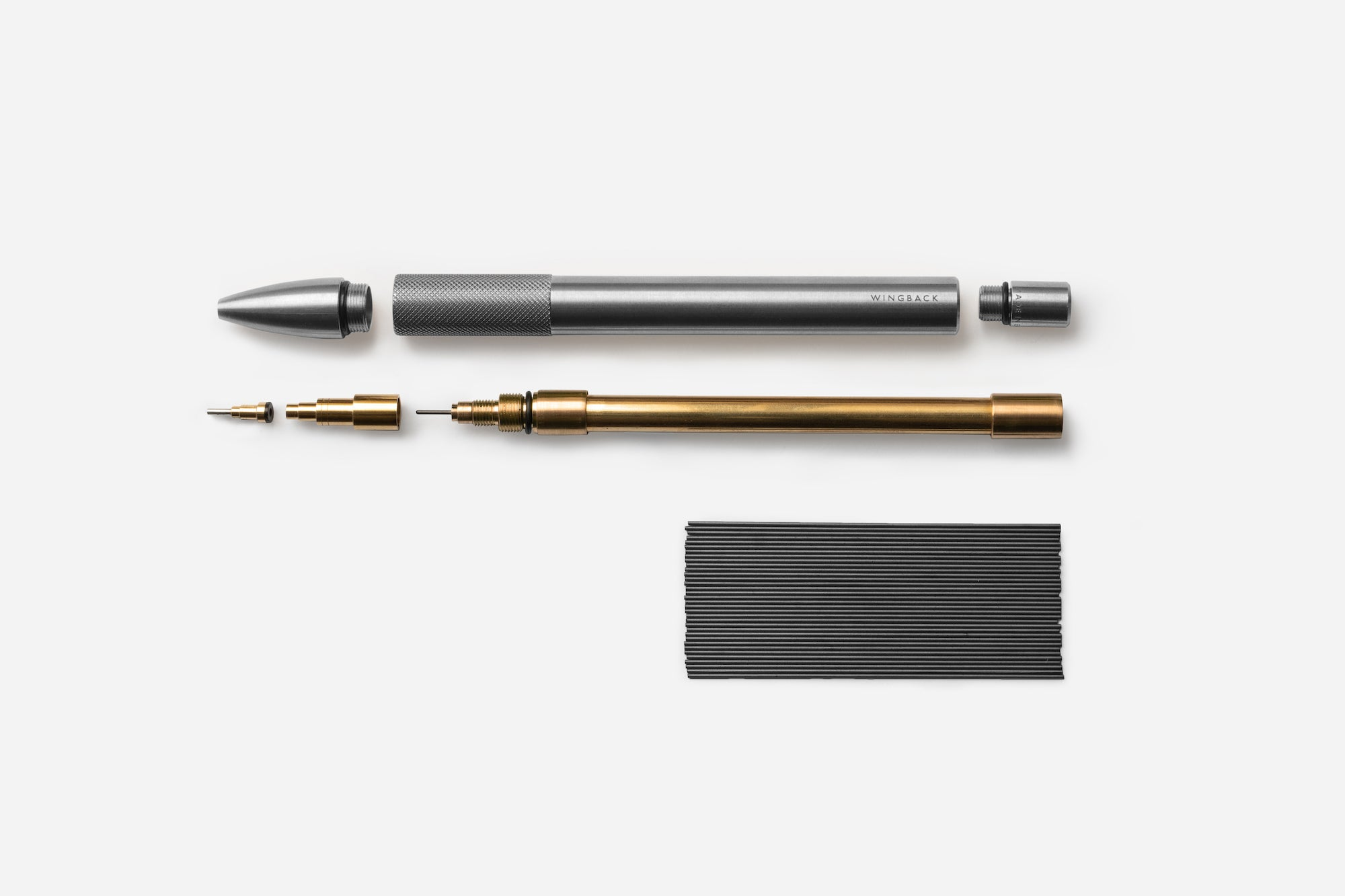 Wingback Mechanical Pencil - Machined Stainless Steel