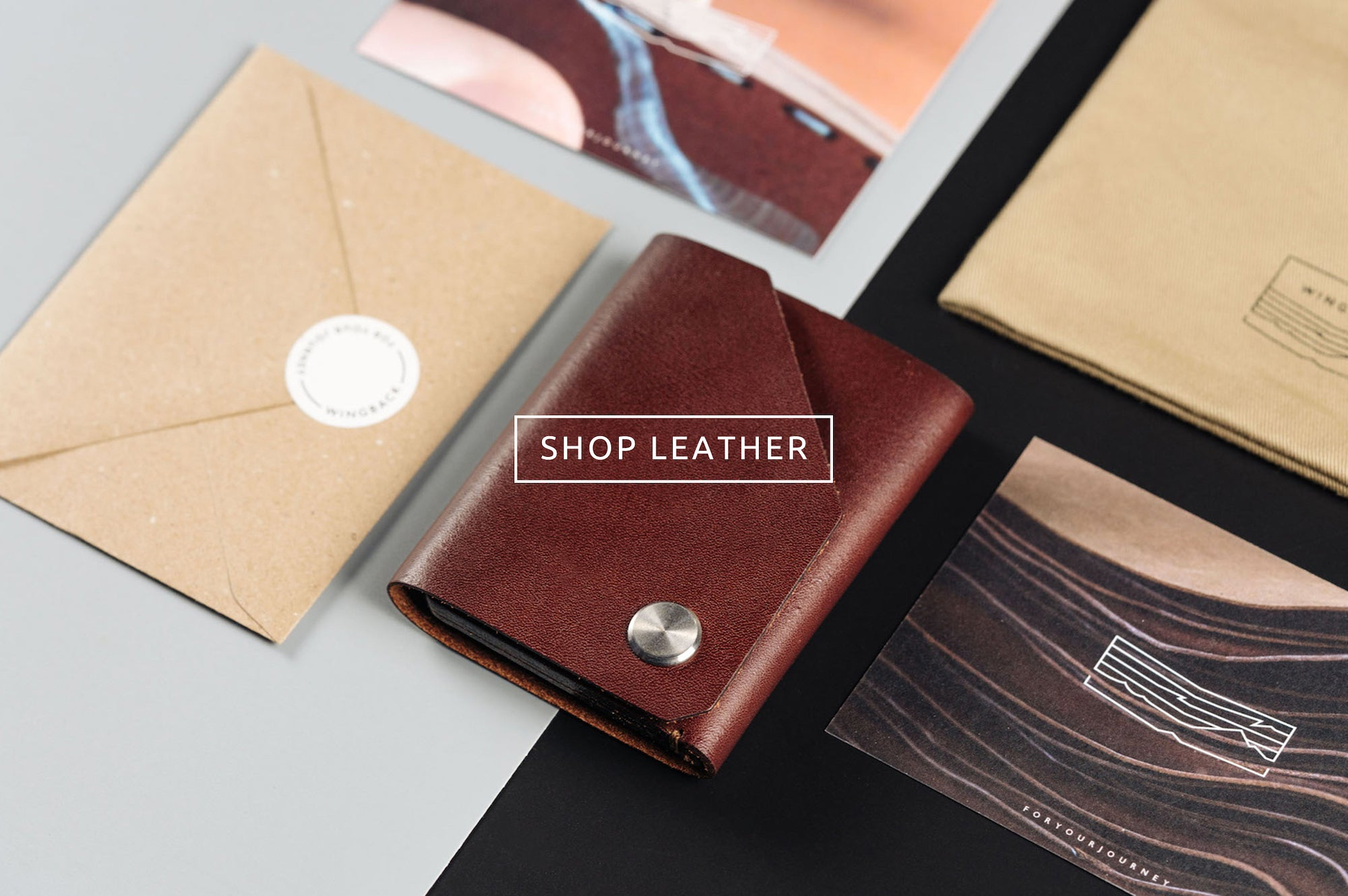 Wingback - shop leather wallets and card holders