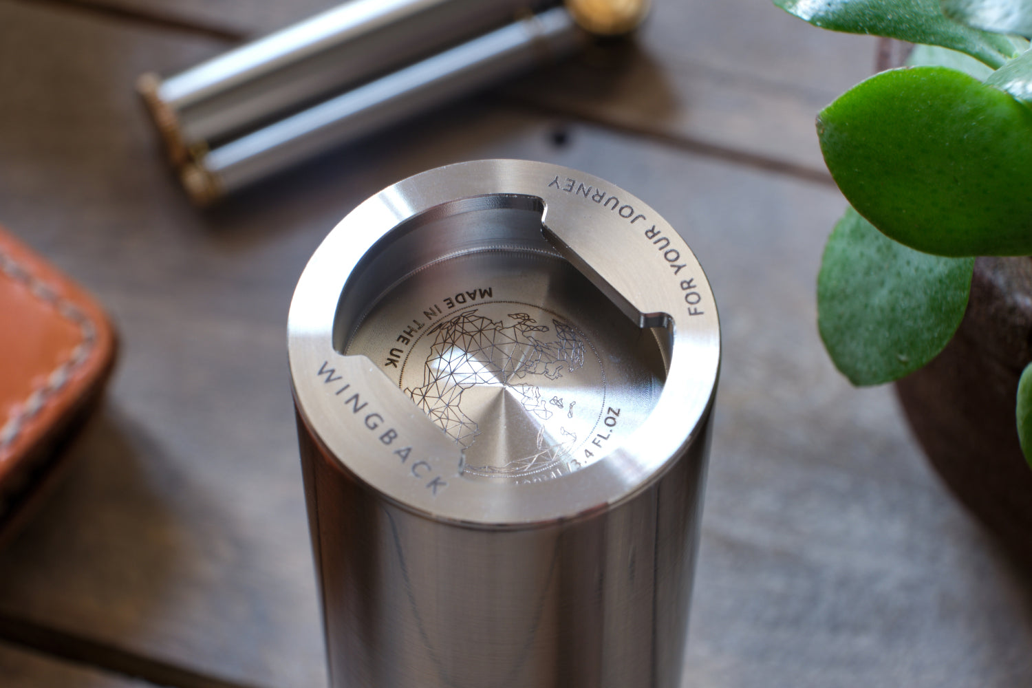 Custom hip flask in stainless steel - Photo by Tim Pockett