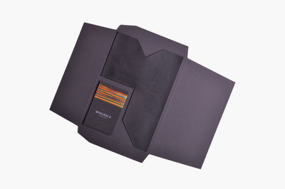 Card Holder Kit - Charcoal Black - Wingback - 1
