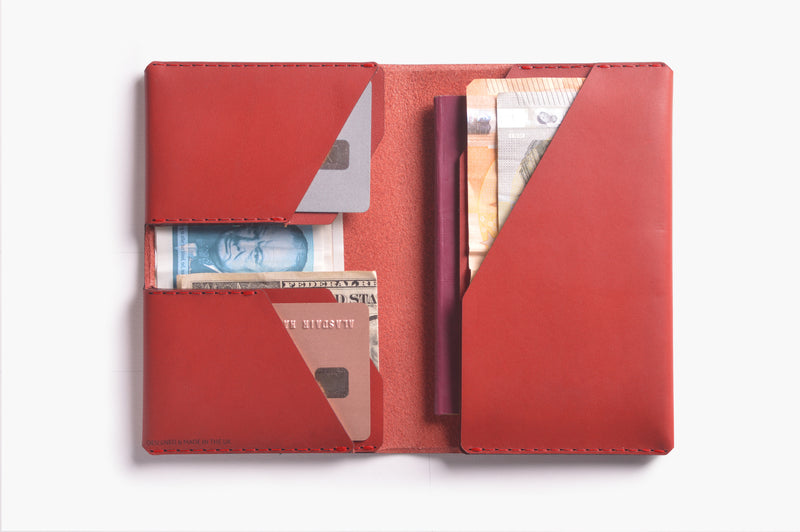 Winston Travel Wallet - Chilli