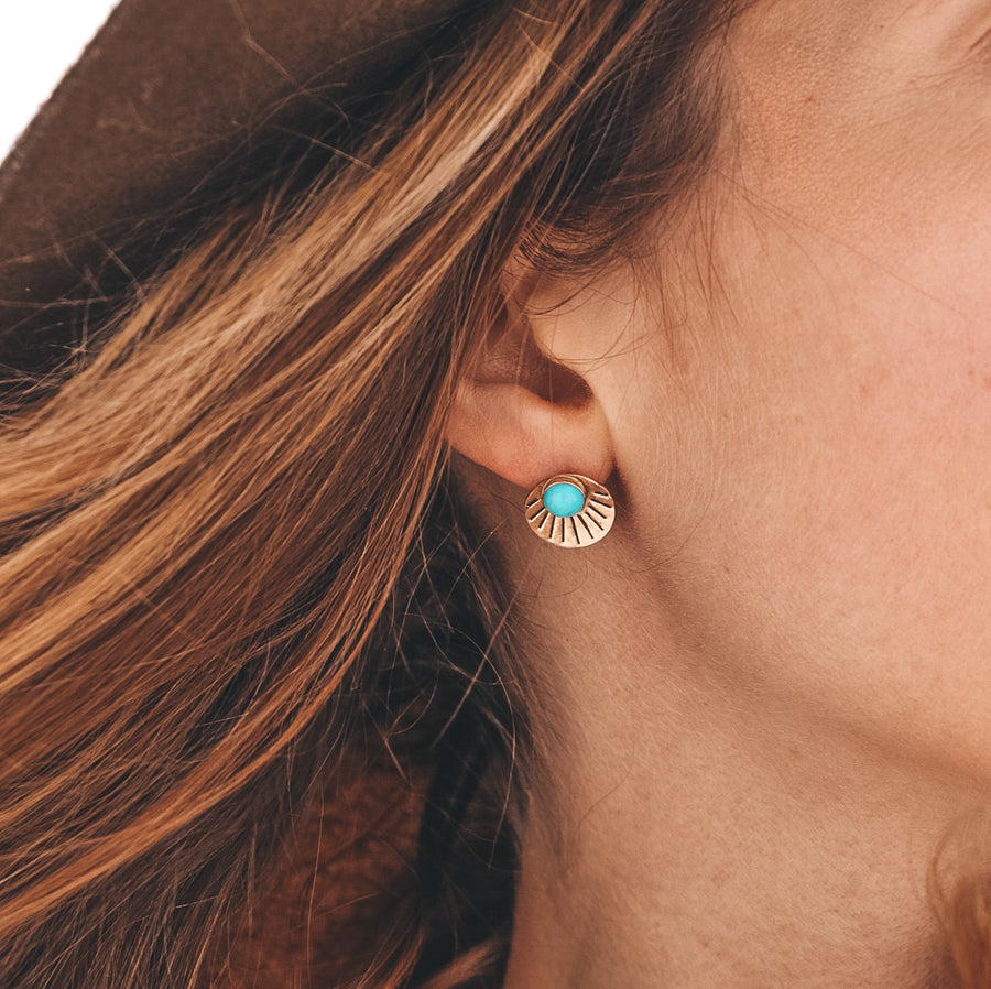 Turquoise Rising Studs