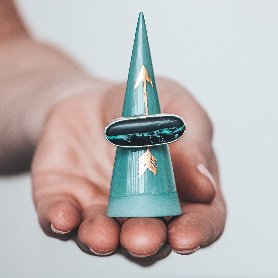 Teal Ring Cone, 3