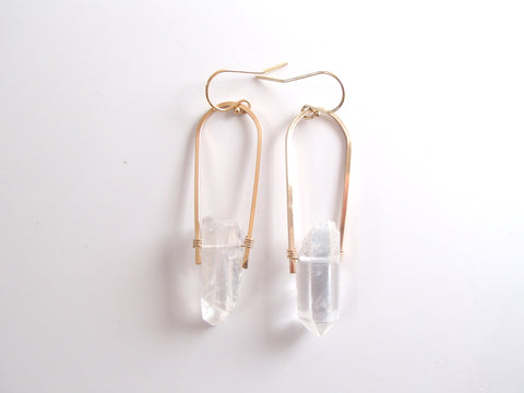 Melanie Large Earrings - Bicolor Moonstone