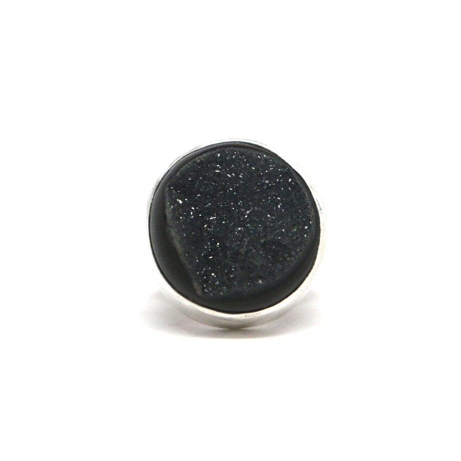 Black Druzy Ring #2 - Size 5