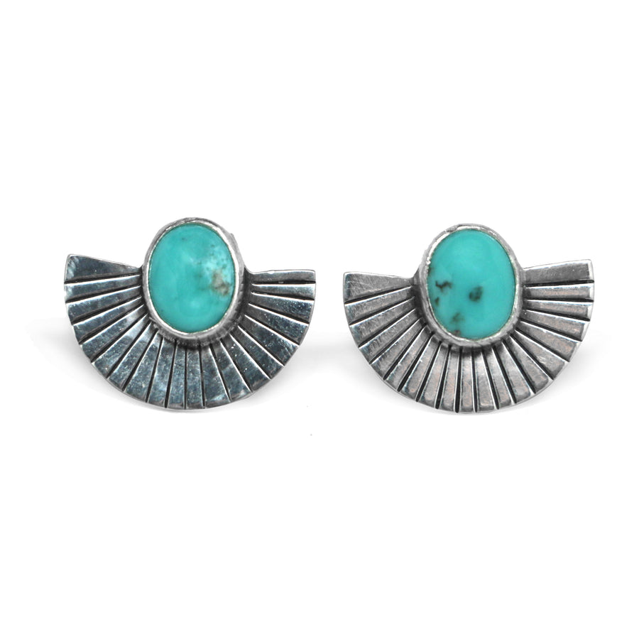 Campitos Turquoise Fan Studs