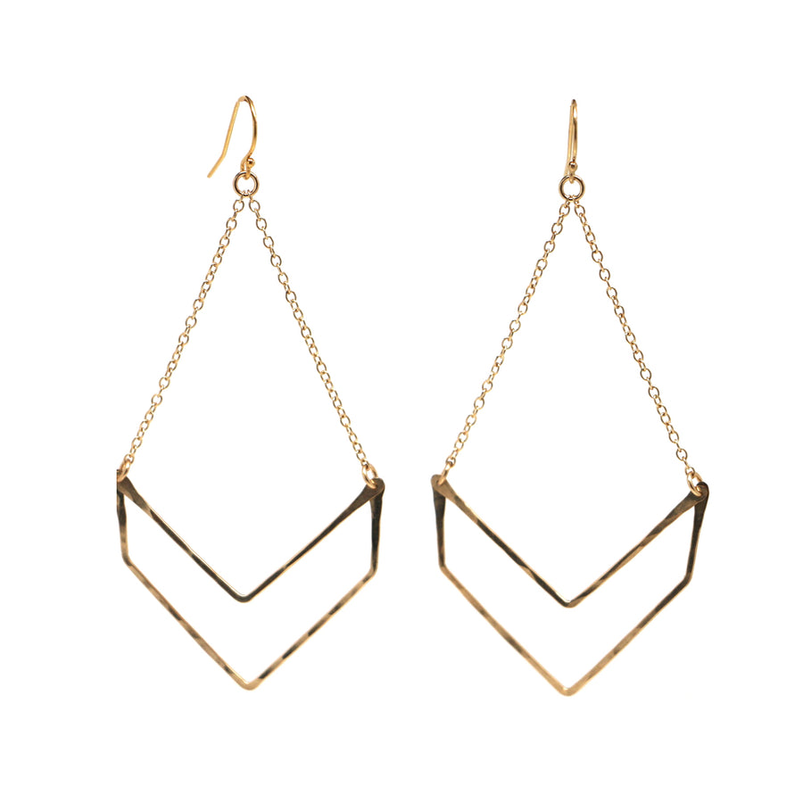 Chevron Swing Earrings