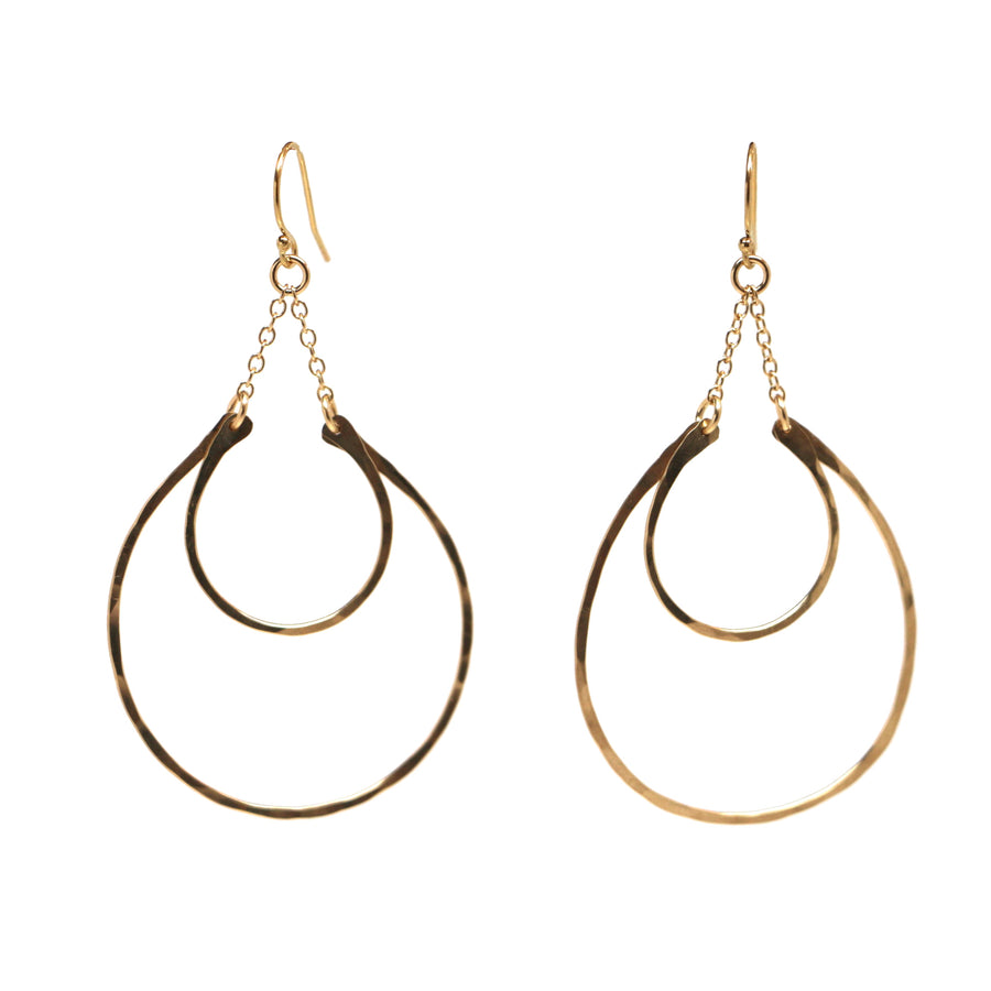 Double Crescent Earrings