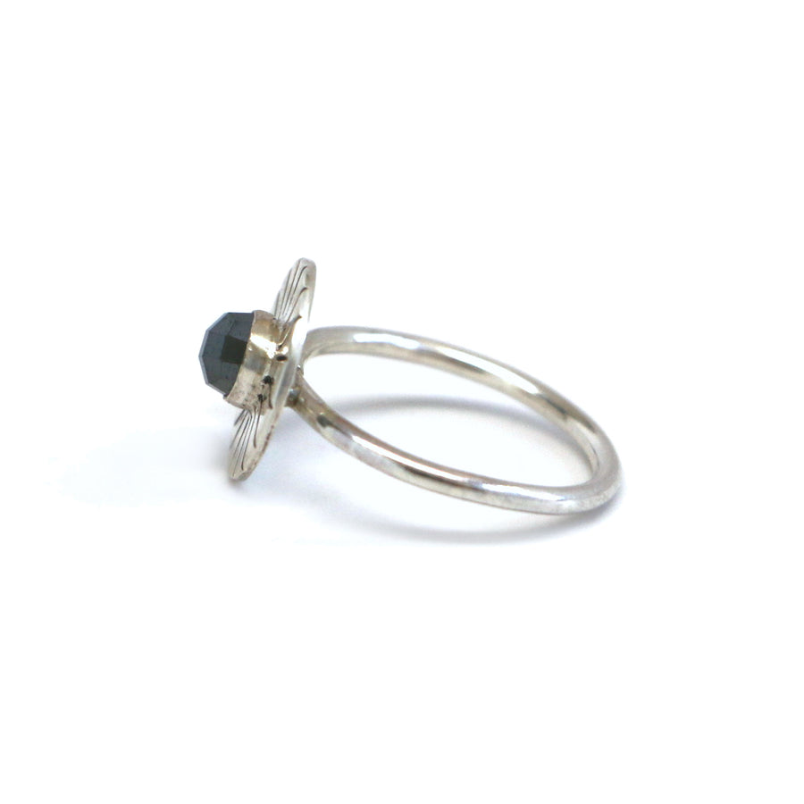 Hematite Burst Ring - Size 7