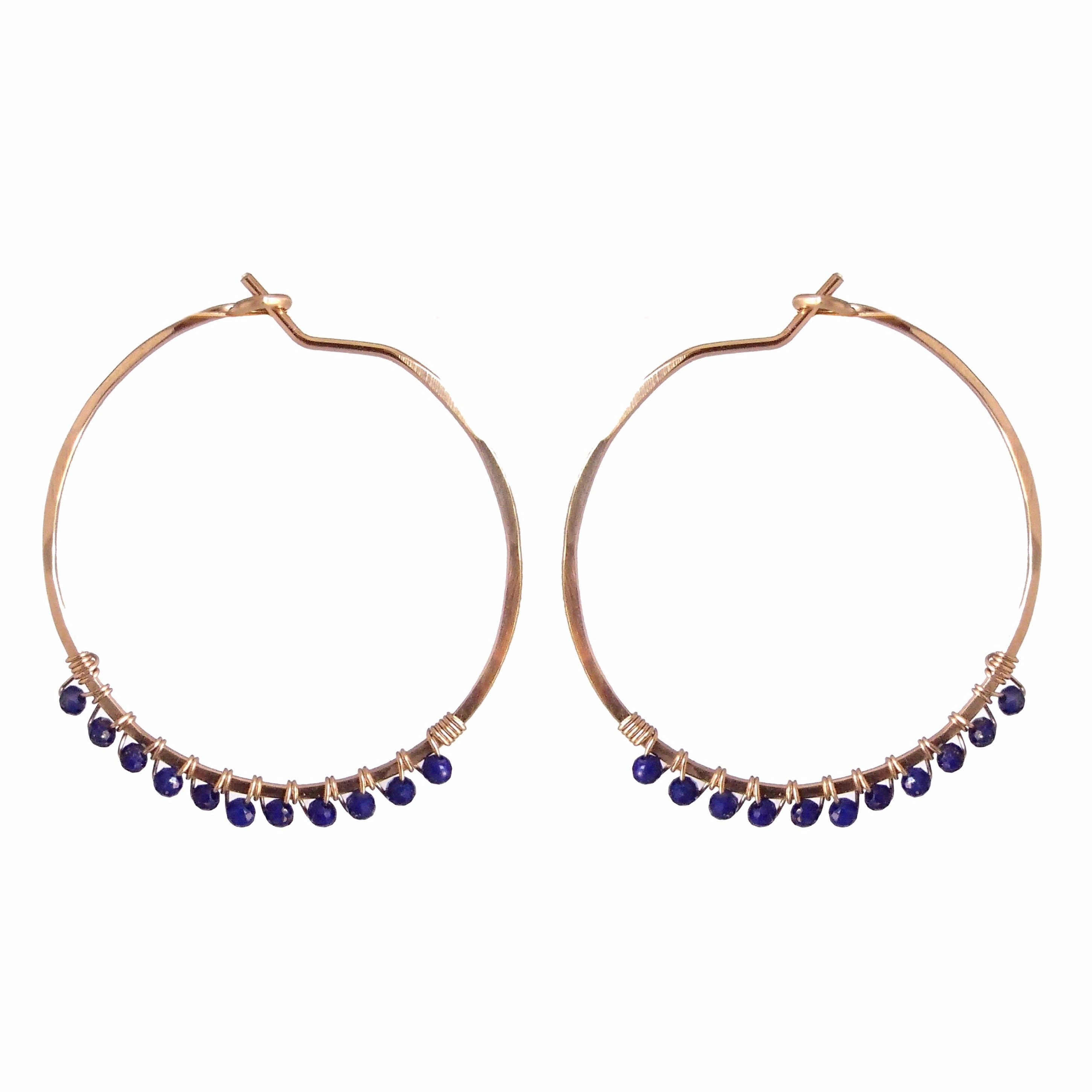 Janine Hoops Small - Lapis